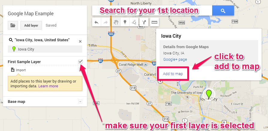 Making Our Own Google Maps - Add location on map
